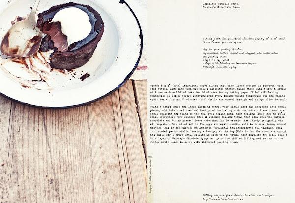 CHOCOLATE TRUFFLE TARTS, HERSHEY'S CHOCOLATE SAUCE
