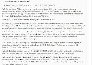 WBCOOP: Ein Blick auf die deutschsprachigen Teilnahmebedingungen.