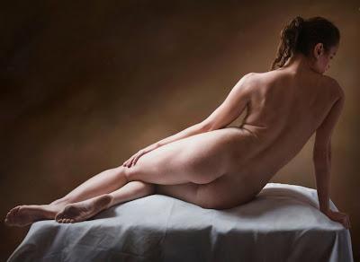 Hiperrealista Cuadros De Desnudos Femeninos Vistos Desde El Punto