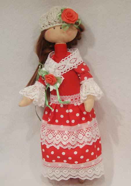Текстильная кукла для интерьера