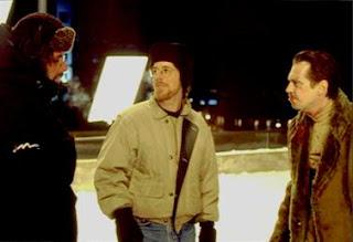 Joel Coen, Ethan Coen & Buscemi en la filmacion de Fargo