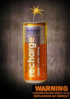 energy drinks advertising poster