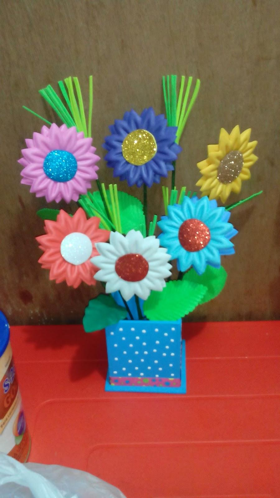 Liliana Manualidades Flores En Fomi