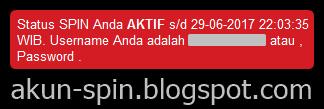 [Update] Username & Password SPIN 6 Juni 2015