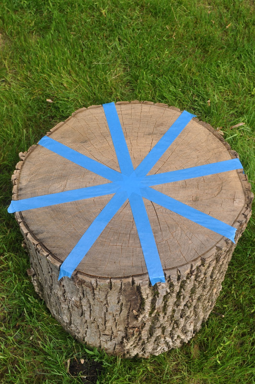 how to make a stump into a seat