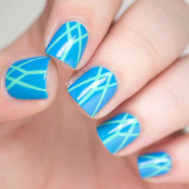 Art Deco Striping Nail Art // The Nailasaurus