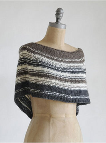 Free Capelet Knitting Patterns : Sittin & Knittin: Free Pattern Friday! - Blue Sky Shadow Capelet