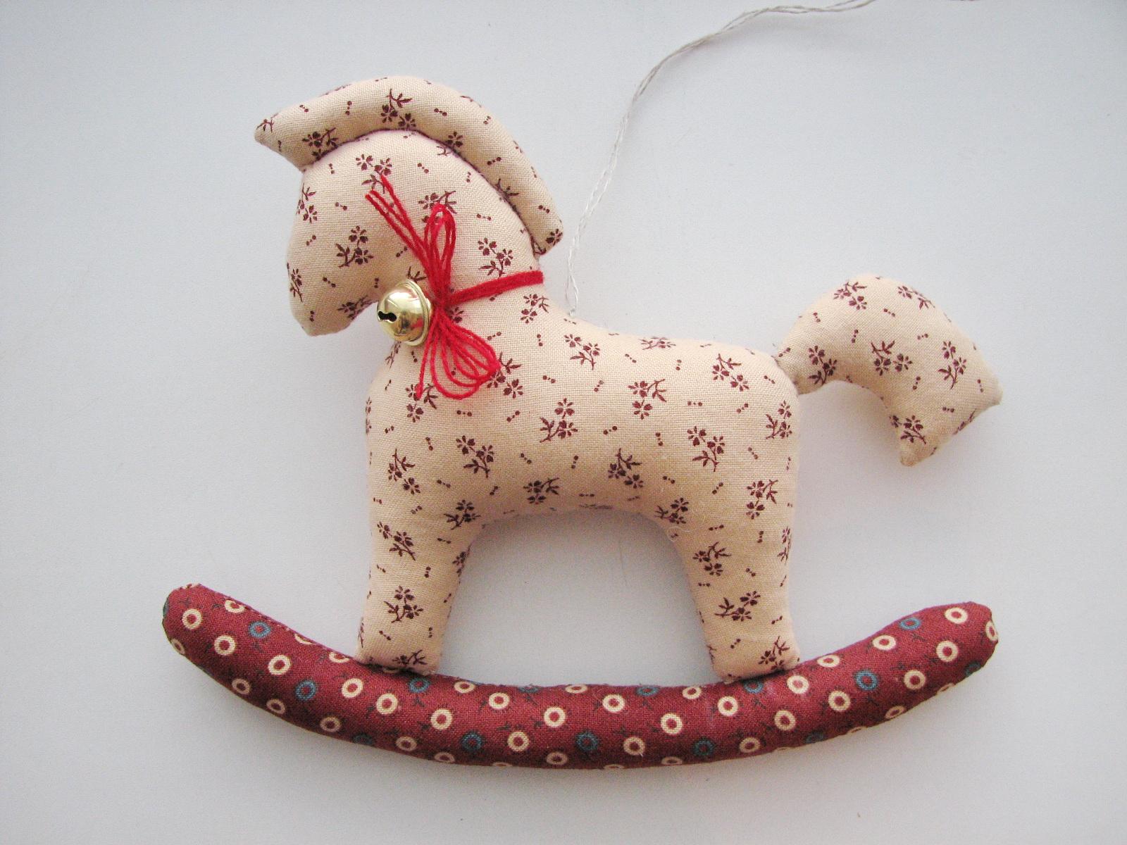 Елочные игрушка лошадка своими руками