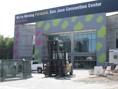 San Jose Convention Center: Open and operating, even under construction