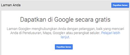 Membuat Google Fans Page Google+ 2