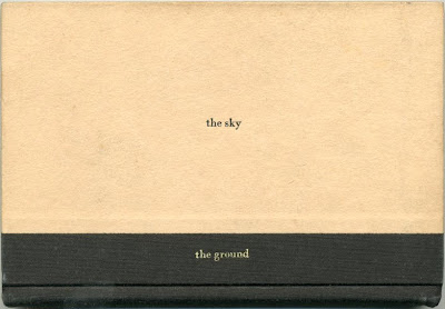the sky and the ground (for Remy Charlip), Michael Dumontier, 2012, foil stamp on found books.