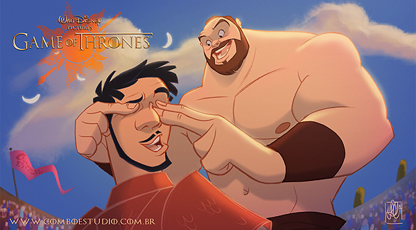 GoT/Disney Mash-Up of Oberyn Martell (The Red Viper of Dorne) and Gregor Clegane (The Mountain)