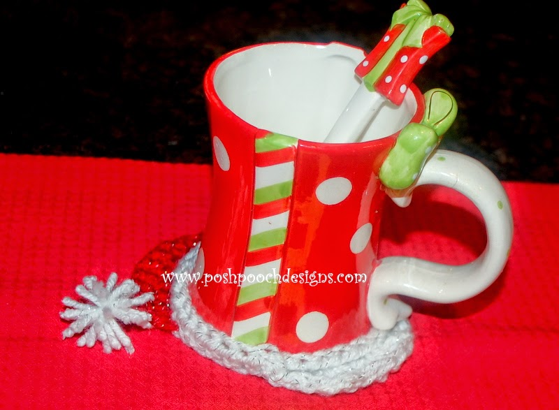 Free Crochet Santa Claus Coaster Pattern : Posh Pooch Designs Dog Clothes: Santa Coaster - December ...