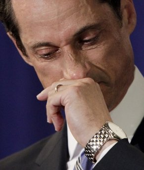 BULGING CONGRESSMAN WEINER TEARS UP, IT SHOULD HAVE COME EARLIER!