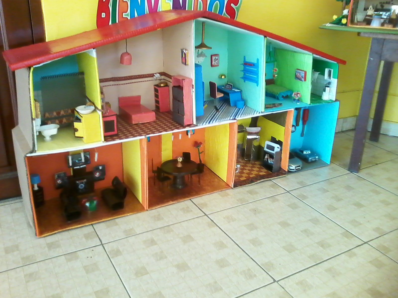 Trabajos y tareas escolares casitas de madera y carton - Como construir mi casa ...