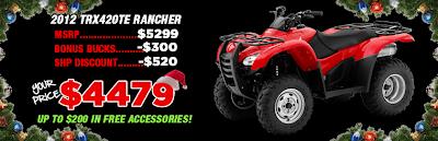 2012 TRX420TE RANCHER. SOUTHERN HONDA POWERSPORTS. CHATTANOOGA TN.