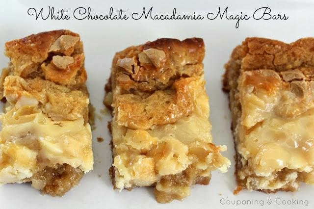 White Chocolate Macadamia Nut Magic Bars