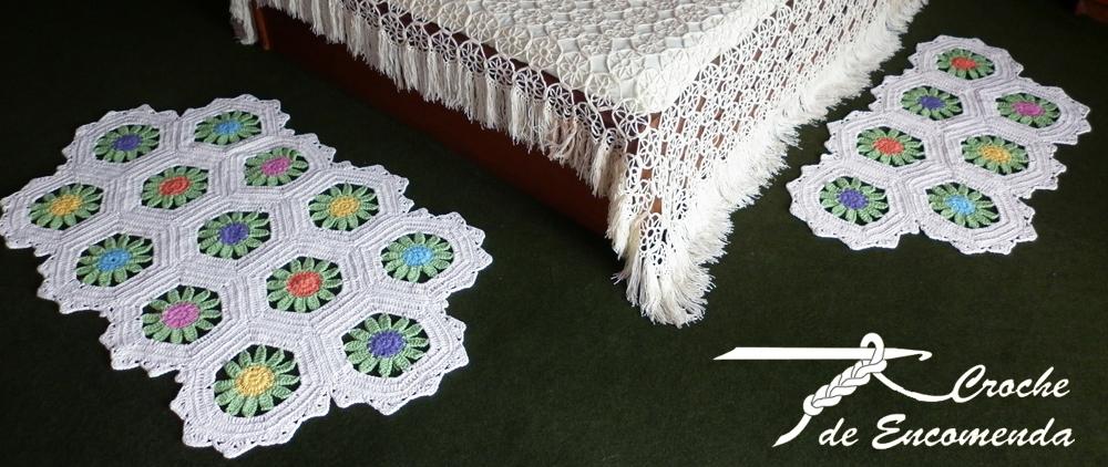 Croche de Encomenda Tapetes para o quarto ~ Tapete Para O Quarto De Croche