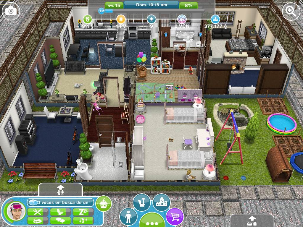 Casa del jugador for Casa de diseno sims freeplay