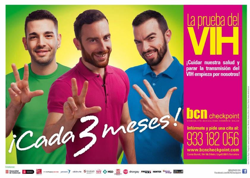 prueba del VIH Barcelona Checkpoint prevención SIDA Gays Homosexuales hombres sexo