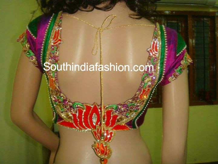 silk sari blouse designs