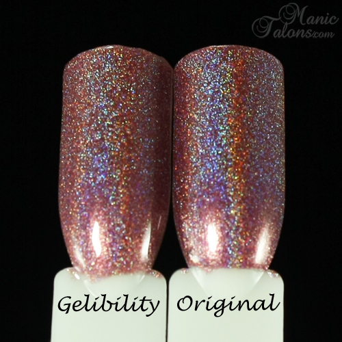 Comparison - Gelibility vs Regular Polish - Girly Bits Auld Langs Wyne