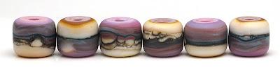 Matte organic cylinder glass beads