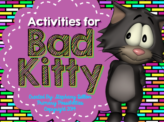 http://www.teacherspayteachers.com/Product/Print-and-Go-Sub-Packet-for-Bad-Kitty-1276281
