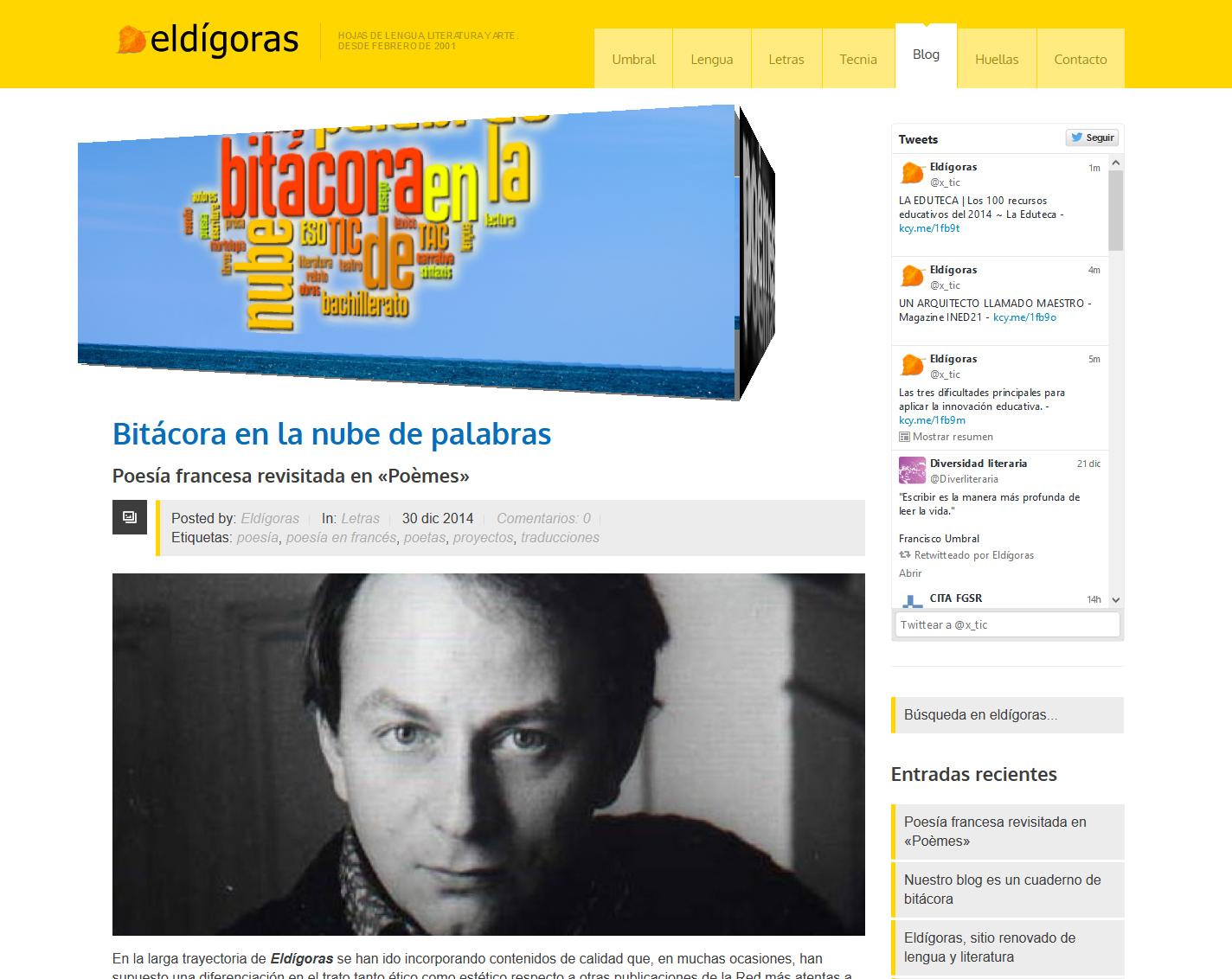 La nueva Bitácora en Eldígoras.com