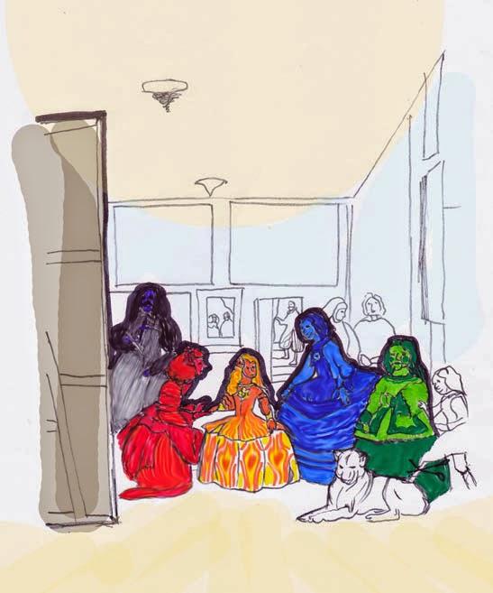 ahorrar, colorear Las Meninas