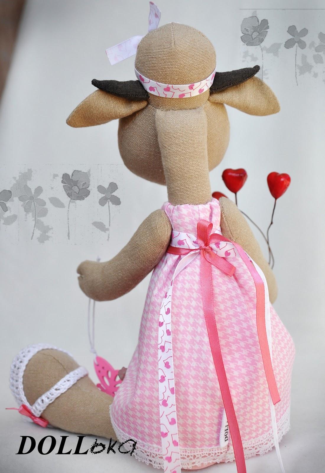 текстильная игрушка Коровка