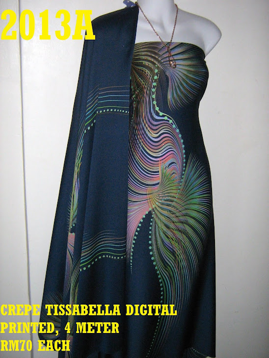CTD 2013A: CREPE TISSABELLA DIGITAL PRINTED, EXCLUSIVE DESIGN, 4 METER