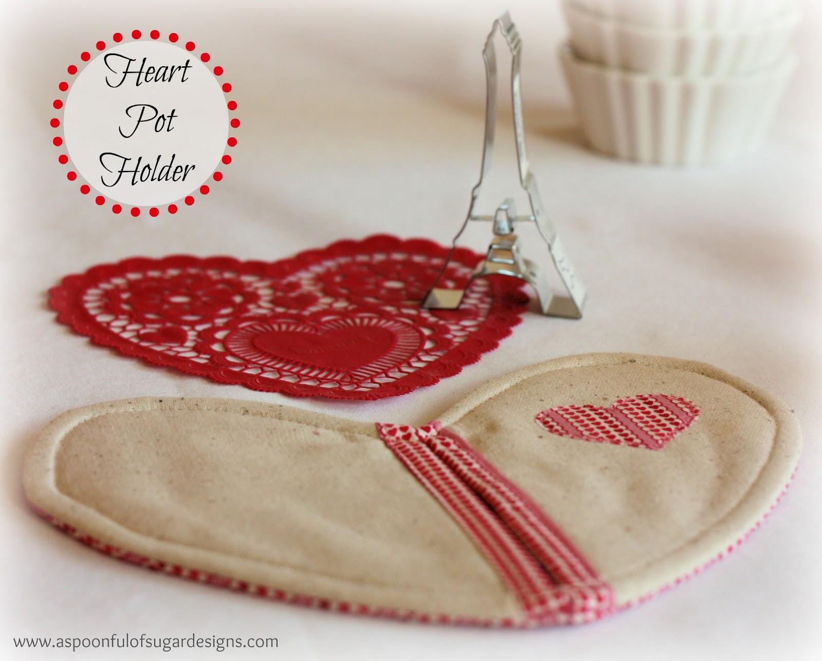 Heart Pot Holder - A Spoonful of Sugar