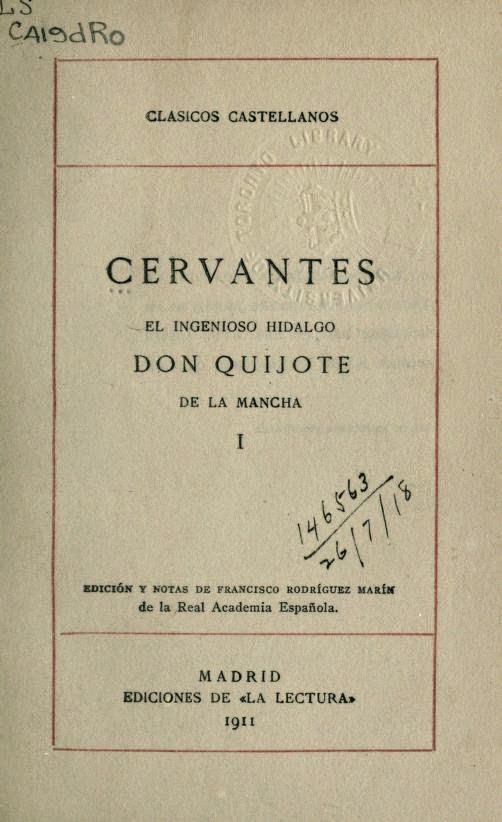 Don Quijote tomo I