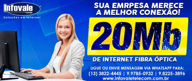 20 Mega de Internet na Infovale