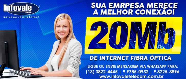 20 Mega de Internet na Infovale