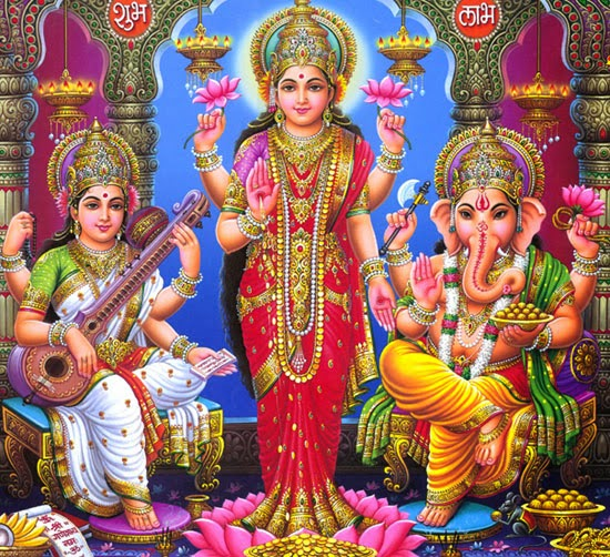 Lakshmi ganesha saraswati together images hindu devotional blog