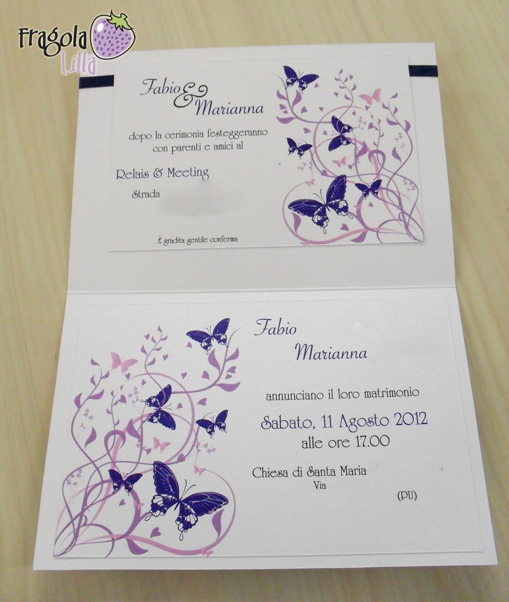 fragola lilla: Partecipazioni con farfalle blu e lilla