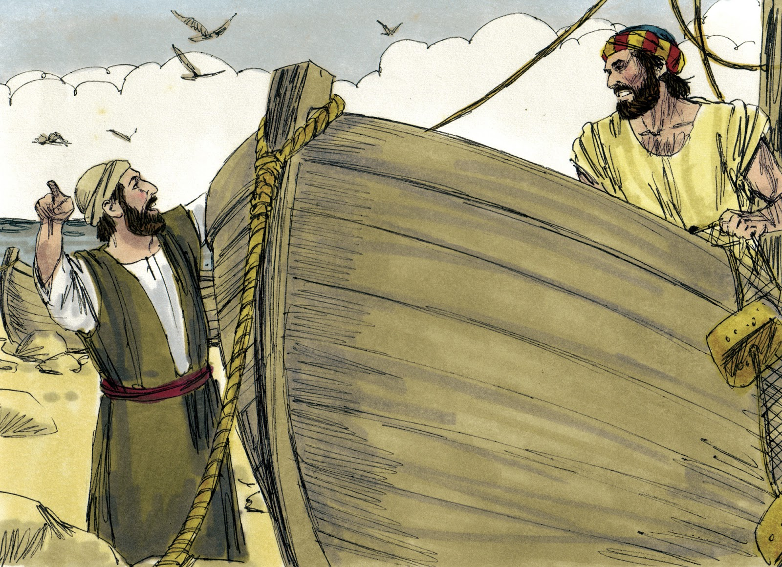 Bible fun for kids the 12 disciples of jesus for Fishing in the bible