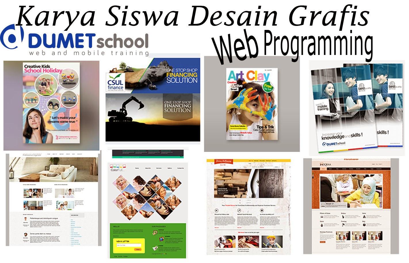 Hasil karya Kursus Website, SEO, Desain Grafis