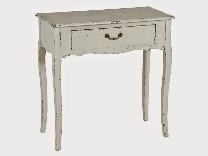 Mueble recibidor blanco desgastado