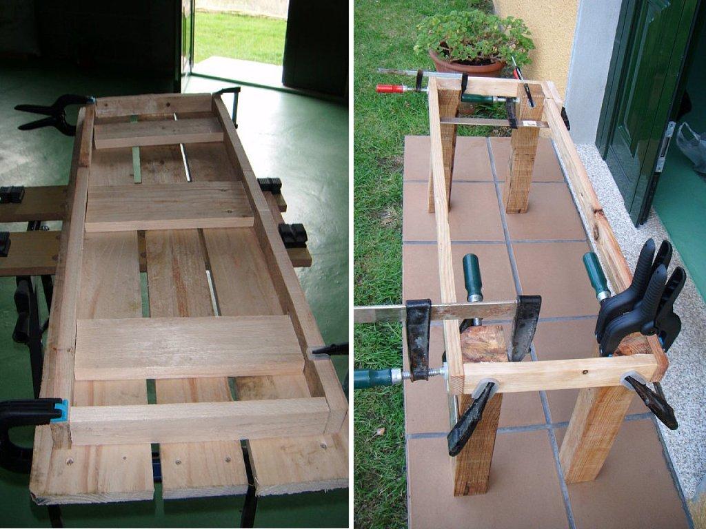 Actividades Escolares: bancos rusticos de madera. muy buenas ideas