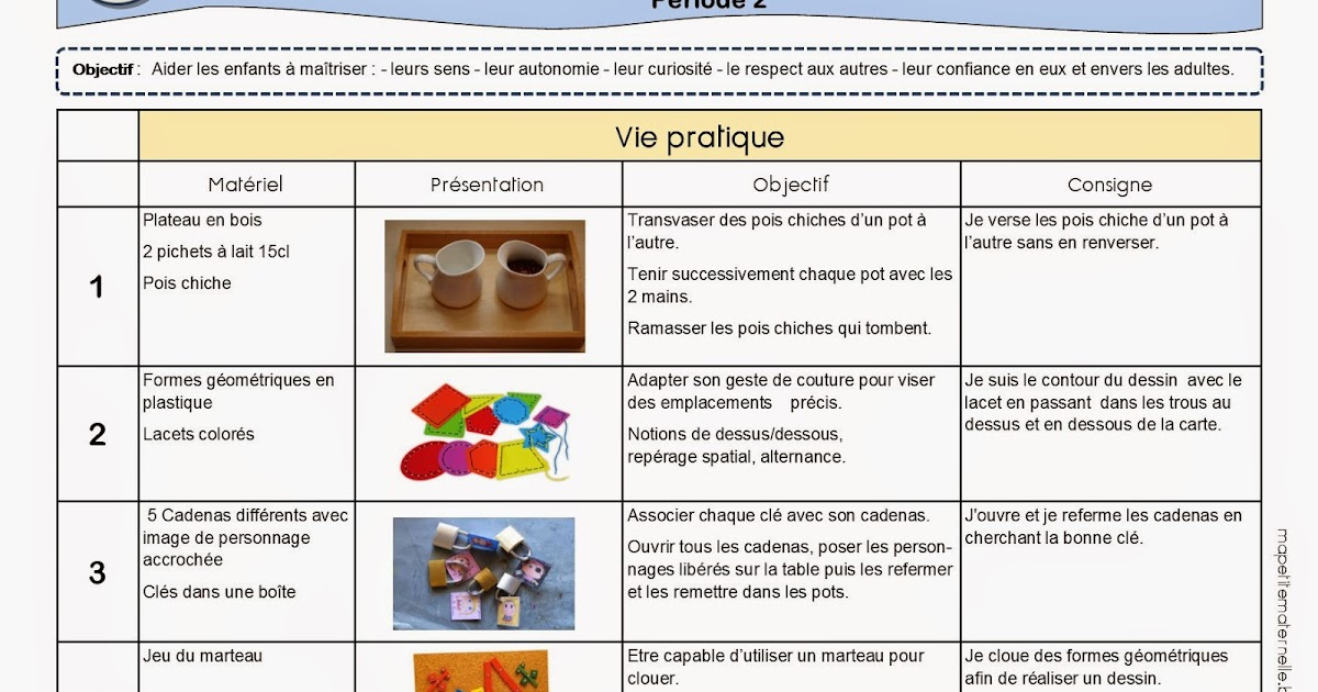 Super Ateliers autonomes type Montessori - Période 2 TH52