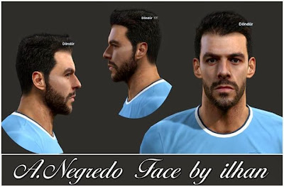 PES 2013 A.Negredo Face by ilhan