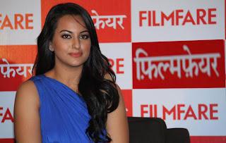 Bollywood Celebrity Sonakshi Sinha At Filmfare