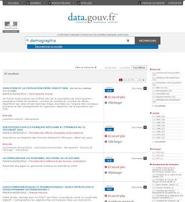page résultat data gouv fr