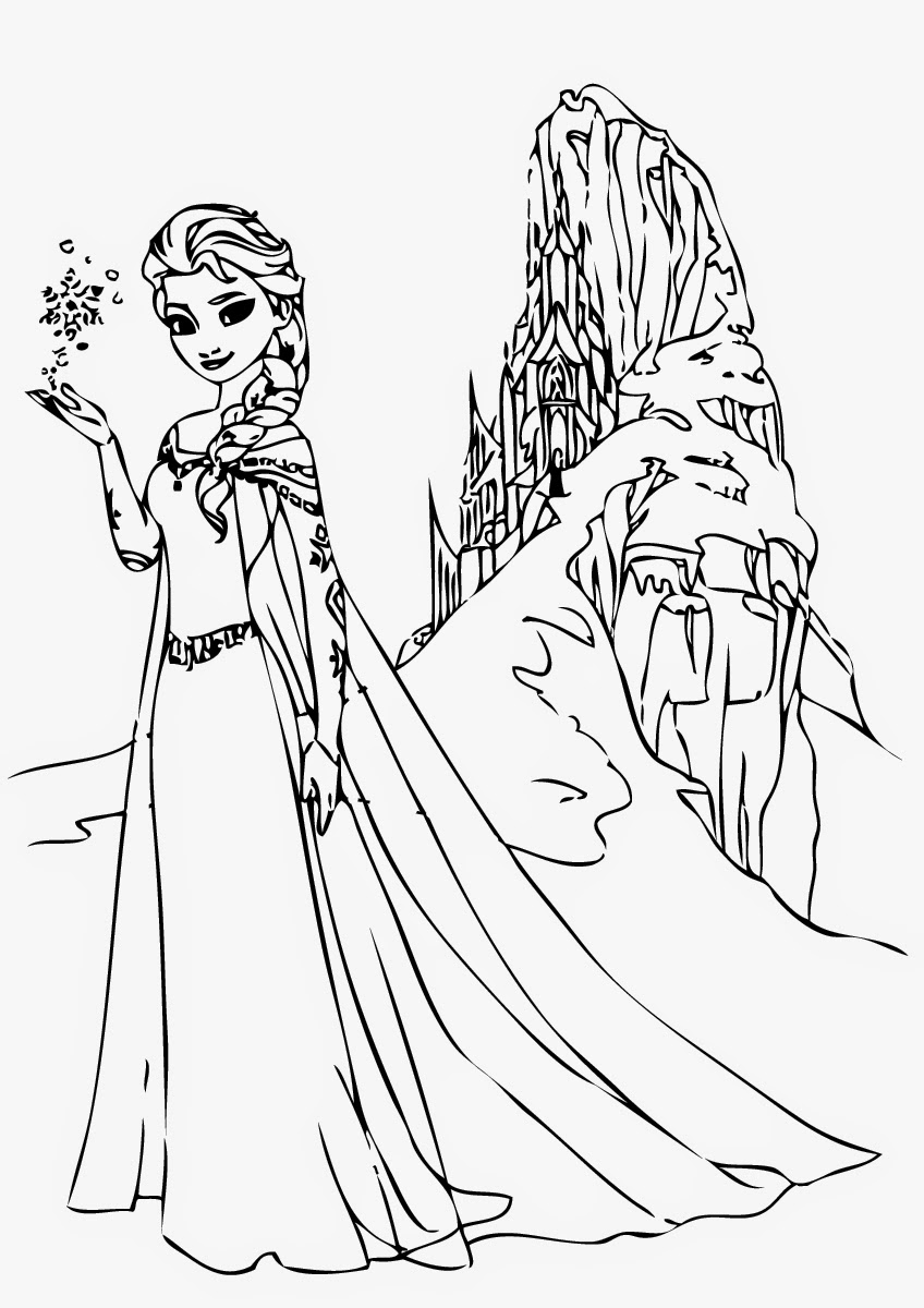 Coloring Pages For Elsa : Disney frozen coloring pages elsa instant knowledge