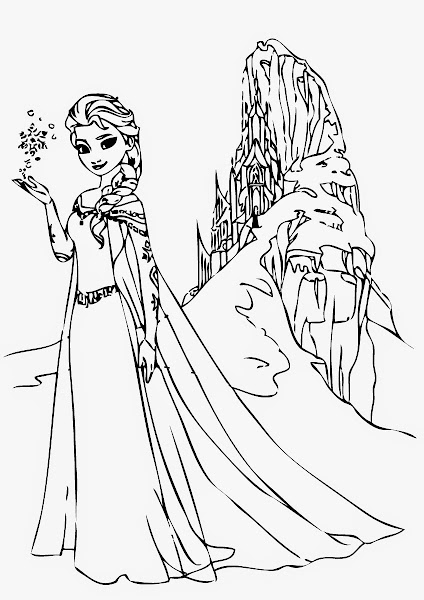 frozen elsa coloring pages printable - Elsa Coloring Pages Printable