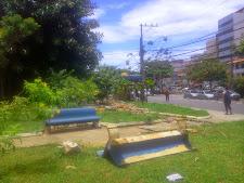 Prefeitura começa recuperação de duas praças na Rua do Canal