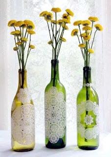 Itulah Cara Membuat Kerajinan Tangan Dari Botol Bekas , Vas Bunga.